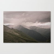 THUNDER-STORM IN MOUNTAINS Canvas Print