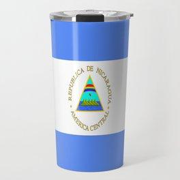 flag of nicaragua - Nicaraguans,Nicaragüense,Managua,Matagalpa,latine. Travel Mug