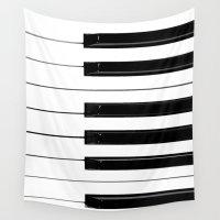 piano Wall Tapestries featuring Piano Keys by Brian Raggatt