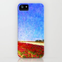 Spring Flower Fields - Help Fund Education for Impoverished Kids in Malawi, Africa @MoreThanAid iPhone Case