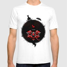 THE BLACK SUN Mens Fitted Tee White SMALL