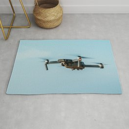 UAV Drone Quadcopter And Digital Camera Flying, Technology, Unmanned Aerial Vehicle, Drone Rug