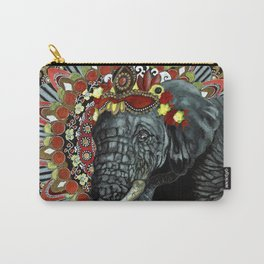 Elephant Red and Gold Indian Yoga Mandala Carry-All Pouch