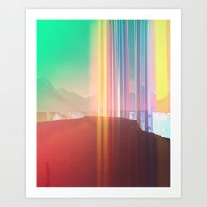 Bars (rework) Art Print