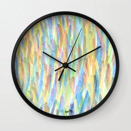 first light falls upon the heavens / solår sunrize Wall Clock