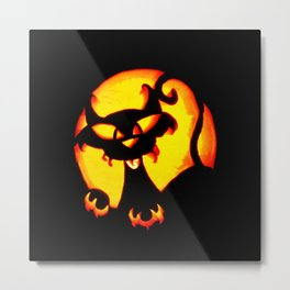 Halloween Trick or Treat Bag Metal Print