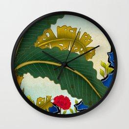Minhwa: Plantain Garden in the Morning  Wall Clock