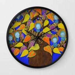 Prayer tree Wall Clock