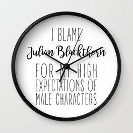 High Expectations - Julian Blackthorn Wall Clock