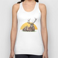 stag Tank Tops featuring Stag by Meredith Mackworth-Praed