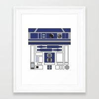 starwars Framed Art Prints featuring R2D2 - Starwars by Alex Patterson AKA frigopie76