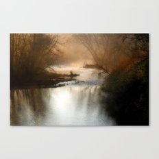 Foggy Alum Creek on a chilly fall morning Canvas Print