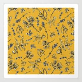 Botanical Floral Art Print