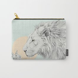 Lion and Bunny Carry-All Pouch