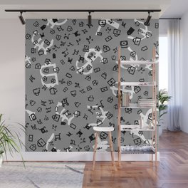 pattern with currency Wall Mural