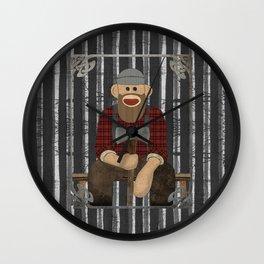 Sockmonkey Lumberjack Wall Clock