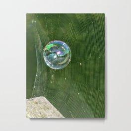 A Bubble Metal Print