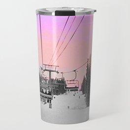 Ski Lift Sunset Shot on iPhone 4 Travel Mug