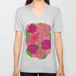 Floral Push Unisex V-Neck