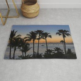 Tropical Paradise Sunset Rug
