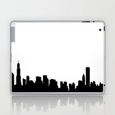 Chicago City Skyline in Black and White Laptop & iPad Skin