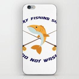 Lucky Fishing Fisherman Gifts iPhone Skin