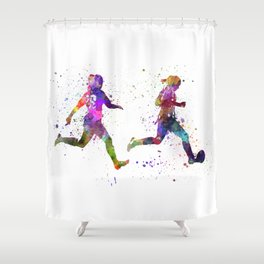 Soccer Player Shower Curtains