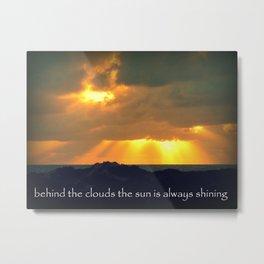 The Sun Shines Through The Clouds Metal Print