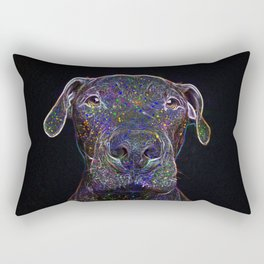 Cosmic pittbull Rectangular Pillow