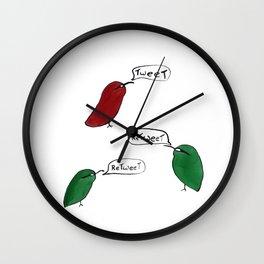 Tweet Retweet Wall Clock
