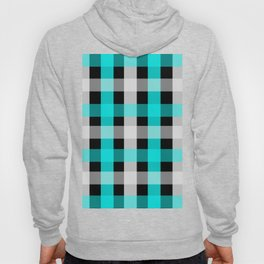 blue black checks Hoody