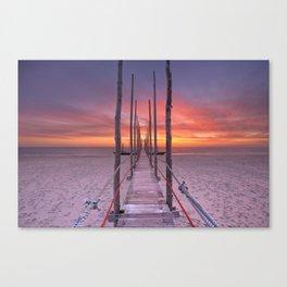 I - Seaside jetty at sunrise on Texel island, The Netherlands Canvas Print