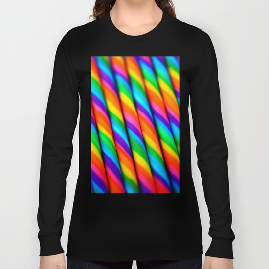Rainbow Candy : Candy Canes Long Sleeve T-shirt