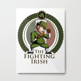 Fighting Irish Metal Print