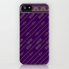 Arrows Flying (Purple) iPhone Case