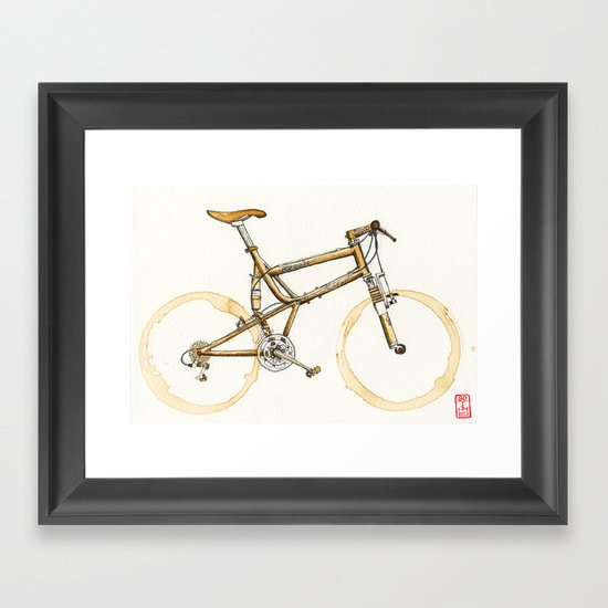 Coffee Wheels #16 Framed Art Print