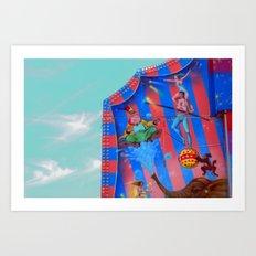 Circus Tent in The sky Art Print