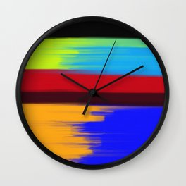 Abstract No 120 By Chad Paschke Wall Clock