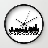 vancouver Wall Clocks featuring Vancouver  by Allison Kiloh