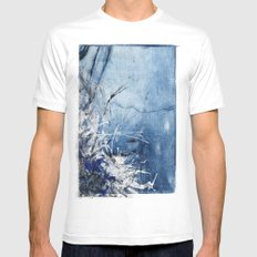 In Stormy Waters White Mens Fitted Tee MEDIUM