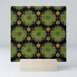 Celtic Endless Knot - Shamrock Four-leaf Clover Mini Art Print