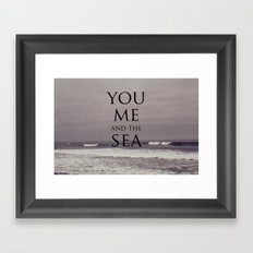 You, Me, and the Sea Framed Art Print
