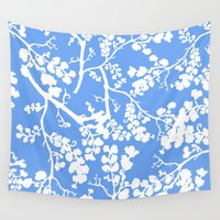 cherry blossom Wall Tapestries featuring Cherry Blossom by Elena O'Neill