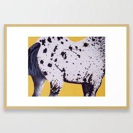 Burb*rry Appaloosa Framed Art Print
