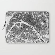 Paris Map Schwarzplan Only Buildings Laptop Sleeve