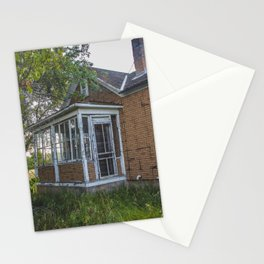 Abandoned House, Fort Clark, ND 3 Stationery Cards
