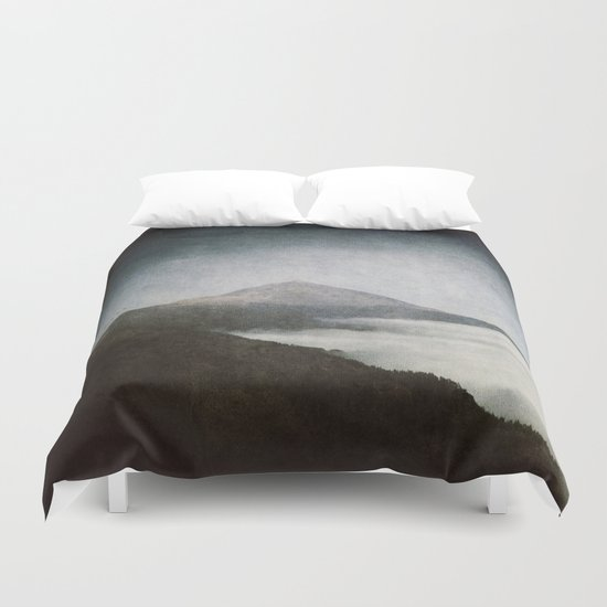 Mount Teide and dust Duvet Cover