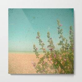 Flowers by the Sea Metal Print