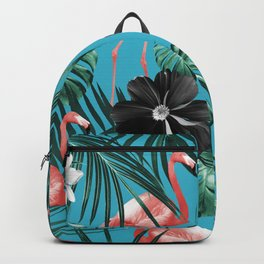 Tropical Flamingo Flower Jungle #2 #tropical #decor #art #society6 Backpack