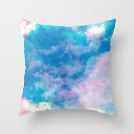 summer storm     sky dye series Throw Pillow